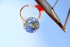 Earth Basketball Stock Photo