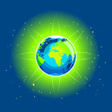 Earth Beam Europe Africa Continents Stock Images