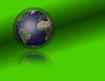 Earth and binary Stock Image