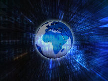 Earth binary background Stock Photos