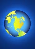 Earth on binary code Royalty Free Stock Image