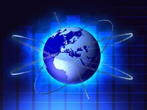 Earth with binary codes Stock Images