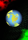 Earth in binary space Royalty Free Stock Photography