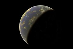 Earth in a black background Royalty Free Stock Photo