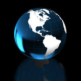 Earth on black Stock Images