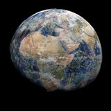 Earth blended into Euros sphere Royalty Free Stock Images