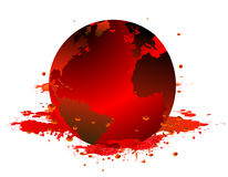 Earth and blood. Created in illustrator Royalty Free Stock Images