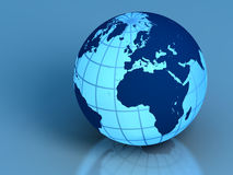 Earth on blue Royalty Free Stock Photo