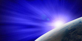 The Earth and Blue Light Royalty Free Stock Photo