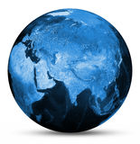 Earth blue map Royalty Free Stock Images