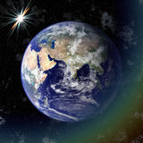 Earth blue planet in space Stock Images