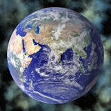 Earth blue planet in space Stock Image