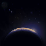 Earth blue planet in space with star Stock Image