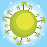 Earth with blue sky vector illustration Royalty Free Stock Photos