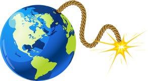 Earth bomb Stock Photo