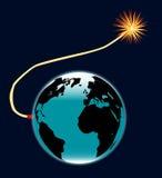 Earth Bomb Royalty Free Stock Photo