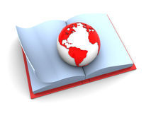 Earth in book Stock Photography