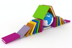 Earth and books Stock Image