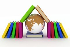 Earth and books Royalty Free Stock Image