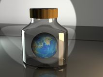 Earth in a bottle Royalty Free Stock Images