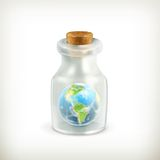 Earth in a bottle, icon Royalty Free Stock Images