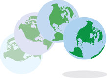 Earth Bouncing royalty free illustration