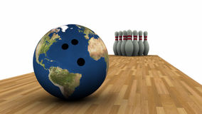 Earth Bowling Stock Photography