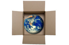 Earth into a box Royalty Free Stock Photos
