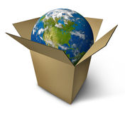 Earth in a box stock illustration