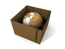 Earth and box Stock Photo