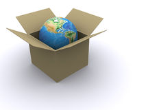 Earth in box Stock Photos