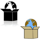 Earth in a box Royalty Free Stock Photography