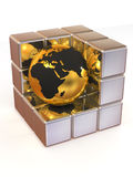 Earth and boxes Royalty Free Stock Image