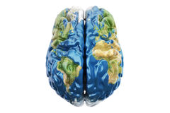 Earth brain concept, 3D. Rendering Royalty Free Stock Photo