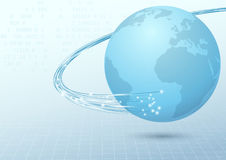 Earth broadband cable connection background Stock Images