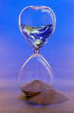 Earth in Broken Hourglass. Earth image NASA Stock Photo