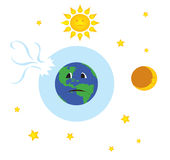 Earth with broken ozone layer Royalty Free Stock Image