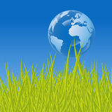 Earth bubble Stock Photo