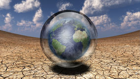 Earth in the bubble Stock Images