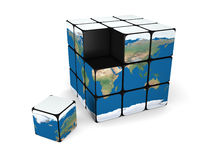 Earth building blocks Stock Photos