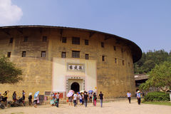 Earth Building 3. This Earth Building is named Zheng Cheng building. It is located in Chuxi Village, Xiayang Town, Yongding County, Fujian Province.It is built Stock Photos