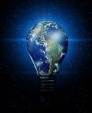 Earth bulb Royalty Free Stock Photos