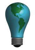 Earth Bulb Stock Images