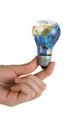 Earth-Bulb Stock Image
