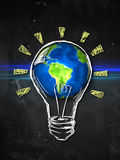 Earth Bulb Idea Stock Photography