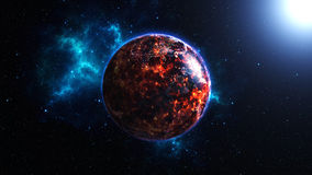 Earth burning after a global disaster, Apocalypse. Abstract Apocalyptic background - burning and exploding planet Earth, Globe on fire, armageddon, image Royalty Free Stock Image