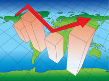 Earth business chart Royalty Free Stock Photos