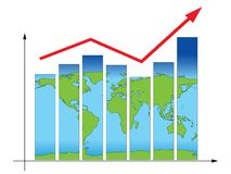 Earth business graph Stock Photo