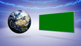 Earth and Business Technology Bars Background Royalty Free Stock Photography