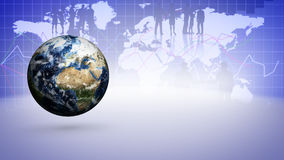 Earth and Business Technology Bars Background Stock Photos